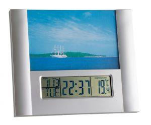 Електронен часовник с аларма и с фоторамка / Арт.№ 98.1073