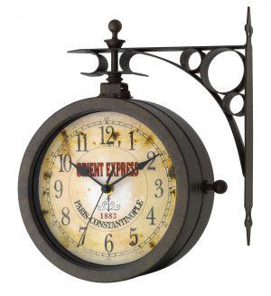 """Стенен часовник и термометър  """"Носталгия""""/ арт.№ 60.3011"""
